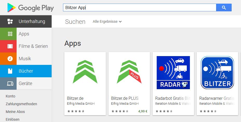 Blitzer-App Verbot 2020